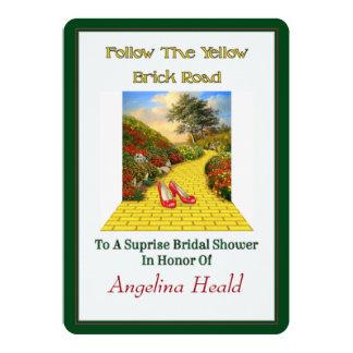 Customizable Follow Yellow Brick Road Wizard Of Oz 13 Cm X 18 Cm Invitation Card