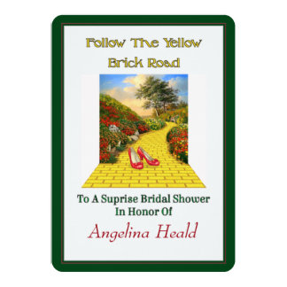 Customizable Follow Yellow Brick Road Wizard Of Oz Card
