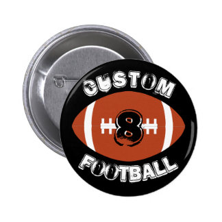 Customizable Football Button Pin for Fans