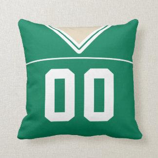 Customizable Football Jersey Number Jersey, Green Cushion
