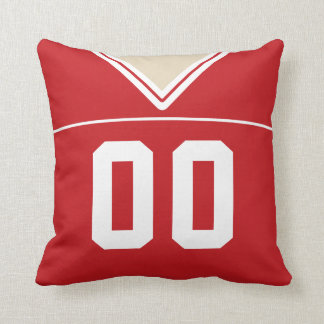 Customizable Football Jersey Number Jersey, Red Cushion