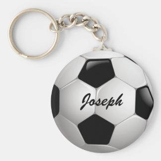 Customizable Football Soccer Ball Basic Round Button Key Ring