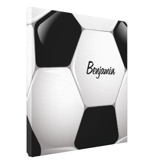 Customizable Football Soccer Ball Gallery Wrapped Canvas