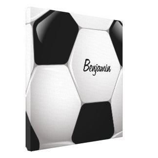 Customizable Football Soccer Ball Canvas Print