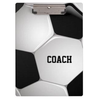 Customizable Football Soccer Ball Coach Clipboard