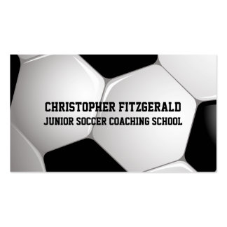 Customizable Football Soccer Ball Coaching Double-Sided Standard Business Cards (Pack Of 100)