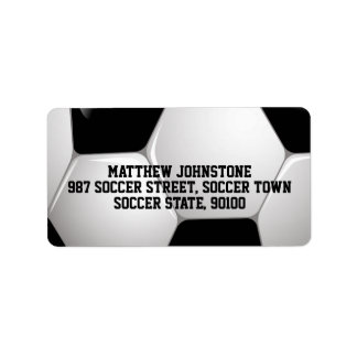 Customizable Football Soccer Ball Label