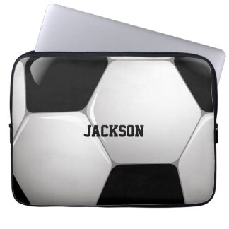 Customizable Football Soccer Ball Laptop Sleeve