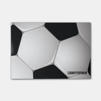 Customizable Football Soccer Ball Post-it® Notes