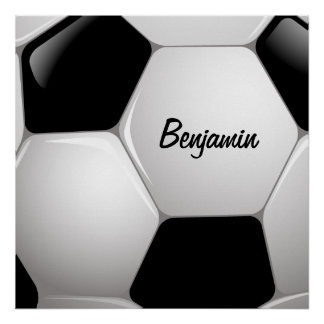 Customizable Football Soccer Ball Poster