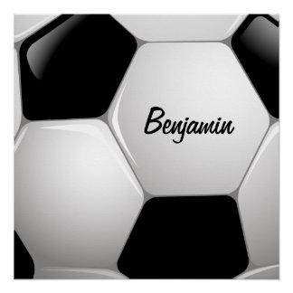 Customizable Football Soccer Ball Perfect Poster