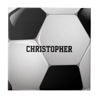 Customizable Football Soccer Ball Small Square Tile