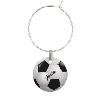 Customizable Football Soccer Ball Wine Charm