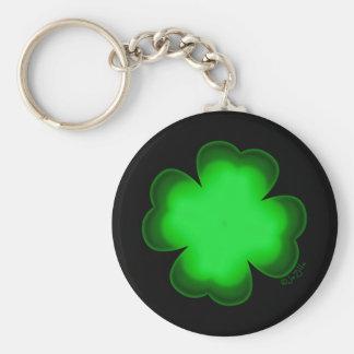 Customizable Four Leaf Clover Key Ring