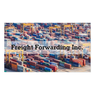 Customizable Freight Transport Container Pack Of Standard Business Cards