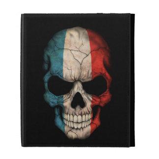 Customizable French Flag Skull iPad Folio Covers
