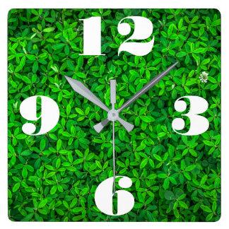 Customizable Fresh Green Plant Wall Clock