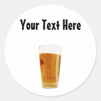 Customizable Full Golden Beer Glass Sticker