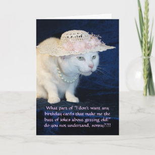 Funny Cat Lady Birthday Cards