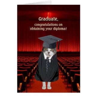 Customizable Funny Cat Graduation Card