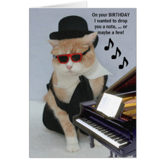Customizable Funny Cat Greeting Card