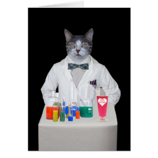 Customizable Funny Cat/Kitty DR. LOVE Greeting Card