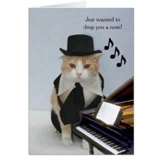 Customizable Funny Cat Note Card
