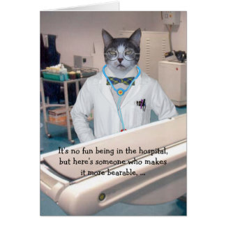 Customizable Funny Cats/Kitties Get Well Card