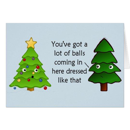 Customizable Funny Christmas Tree Card