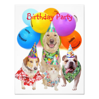 Customizable Funny Dogs Kids' Party Invitation