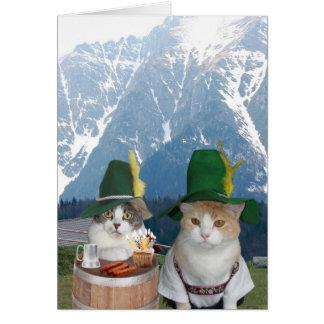 Customizable Funny German Cats/Kitties Greeting Card