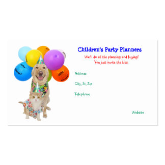 Customizable Funny Pets Children s Parties Business Card