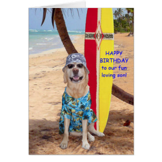 Customizable Funny Son Birthday Greeting Card