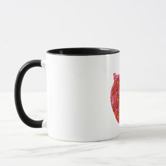 Customizable Fuscia Heart Mugs