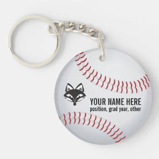 Customizable FVL Baseball Keychain Round Acrylic Keychains