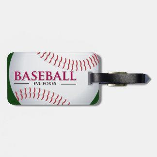 Customizable FVL Baseball Luggage Tag
