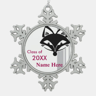 Customizable FVL Class of Pewter Snowflake Decoration