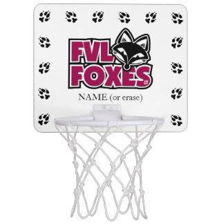 Customizable FVL Foxes Mini Basketball Hoops