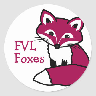 Customizable FVL Foxes Round Sticker