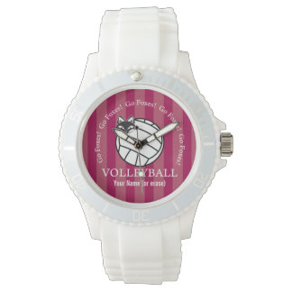 Customizable FVL Foxes Volleyball Wristwatch