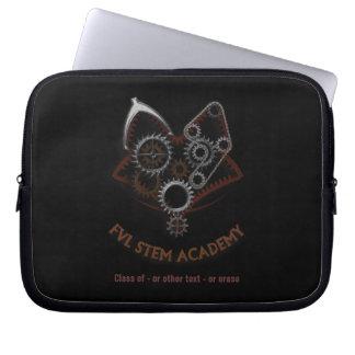 Customizable FVL STEM laptop sleeve ON BLACK