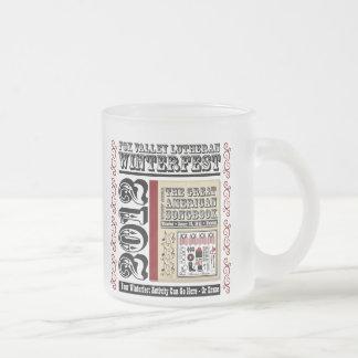 Customizable FVL Winterfest Americana 2012 10 Oz Frosted Glass Coffee Mug