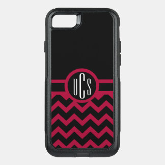 Customizable Garnet and Black Monogram OtterBox Commuter iPhone 8/7 Case
