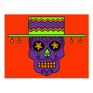 Customizable Gaucho Sugar Skull Postcard