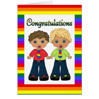 Customizable Gay Engagement or Wedding Card