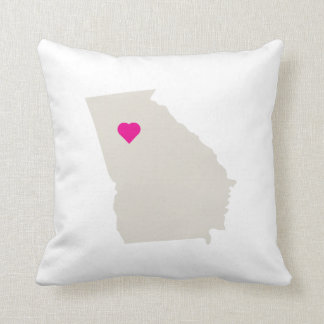 Customizable Georgia State Love Reversible Pillow Throw Cushion