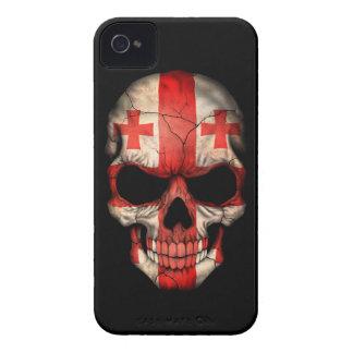 Customizable Georgian Flag Skull iPhone 4 Cover