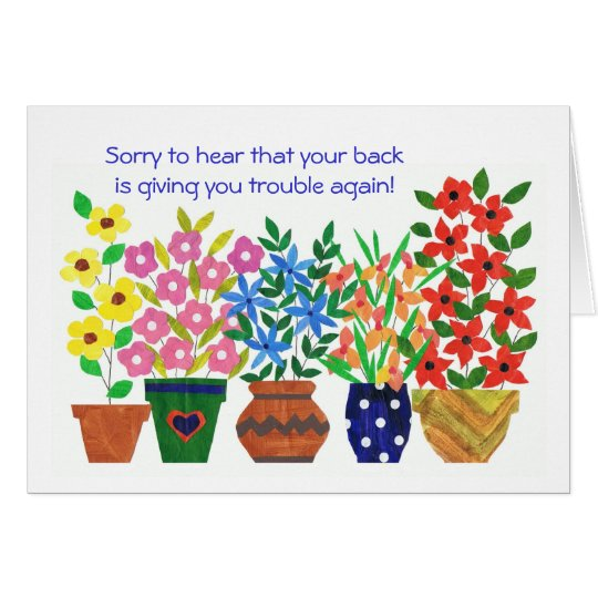 Customizable Get Well Card for a Back Patient