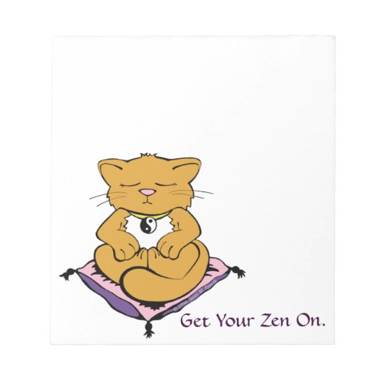 CUSTOMIZABLE Get Your Zen On Cute Kitty Cat