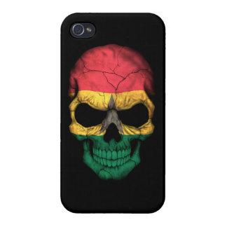 Customizable Ghana Flag Skull Cover For iPhone 4